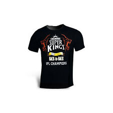 *NEW* OFFICIAL CSK CHENNAI SUPER KINGS - BACK TO BACK CHAMPIONS - WOMENS T-SHIRT