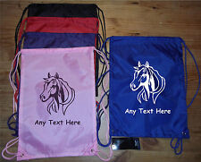 PERSONALISED HORSE / PONY: GYM, SHOES, GROOMING BRUSH, SWIMMING BAG etc ANY TEXT