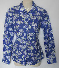 NEW LADIES BLUE FLORAL PRINTED BODEN SHIRT TOP SIZE 8 10 12 14 16 18 BNWOT