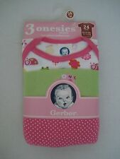 Gerber Baby Girl's 3 Piece Onepiece Size 18 mos, 24 mos NWT