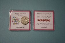 Unique PERSONALISED Happy Birthday LUCKY SIXPENCE Female Relatives Gift Present
