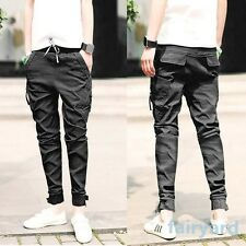 Vintage Feet Pants Jeans Men Fashion Slim Fit Skinny Pencil Trousers Solid Color
