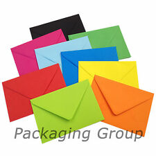 100 C6 Coloured Envelopes for A6 Greeting Cards - 114mm x 162mm - FREE UK POST