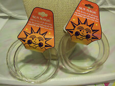 2 Sun Magic Thin or Thick Plastic Color Changing Bangle Bracelets