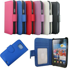 New Flip Card Wallet PU Leather Case TPU Cover For Samsung Galaxy S2 II i9100