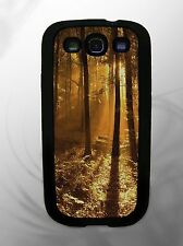 Rubber Phone Case fits Samsung Galaxy S3 i9300 ~ Old English Forest design