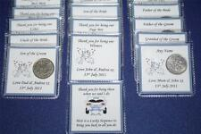 Personalised LUCKY SIXPENCE KEEPSAKE WEDDING Thank You Gift GUEST Male Favours