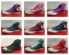 Womens Girls Customised Converse CT All Star HI Canvas Trainer 10 Colours UK 3-8
