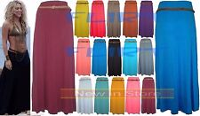 Womens Maxi Skirts Long Gypsy Skirt Ladies Belted Jersey Sexy Shakira Casual UK