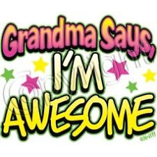 Grandma Says I'm Awesome T Shirt  Youth Kids  Infant Sizes  Tee Neon Colors