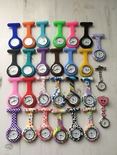Montre silicone infirmier medecin quartz pince épingle broche attache poche