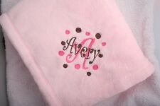 Personalized Monogrammed Baby Mini Security Blanket Several Colors Boy or Girl