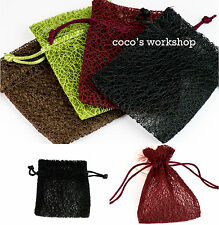 HIGH QUALITY DOUBLE LAYERS VINTAGE DRAWSTRING GIFT BAG POUCH JEWELLERY ORGANZA