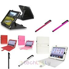 PU Folio Leather Case Cover Stand For Apple iPad 1 1st Gen Free Stylus