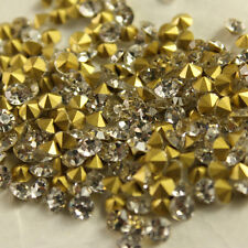 Clear Crystal Rhinestones Pointed Back PP4/PP31 SS1/SS45 Multiple Size