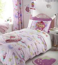 Cupcakes Cup Cake Kids Girls Embroidered Pink Duvet Cover Bedding Bedroom Range