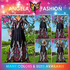 Angela New Long Sleeve Evening Cocktail Women Sexy Maxi Dress Size M-9XL 8-36 US