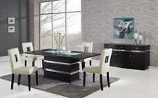 Global Furniture Chic Modern DG072DT + DG072DC-BEI Wenge Lacquer Dining Set
