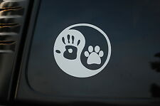 Ying Yang Dog Lover Vinyl Sticker Decal (V101) Pet Adopt Rescue Puppy Tag Love