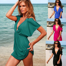 New Womens Sexy Kaftan Style Beach Cover-Up Sarong Smock Dress-Must Have-SC