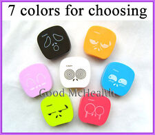 Cute Face Design Contact Lens Case with Soaking Case & Storing Holder Box