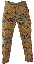 Woodland Digital Camo BDU Pants Military Army Cargo Fatigue Tactical Camouflage