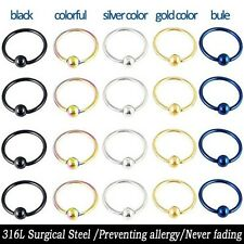 2pc Surgical Steel Ear/Nose/Eyebrow/Lip ring Earrings Cartilage Lover GIFT E014H