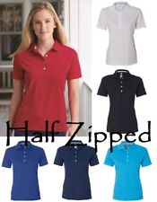 Hanes Ladies Cotton Pique Polo Sport Shirt 035X S-3XL Short Sleeve