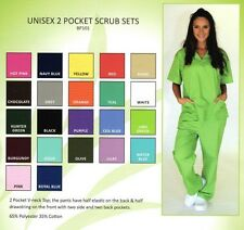 Medical Nursing Scrub Set NATURAL UNIFORM Unisex Top Pants BP101