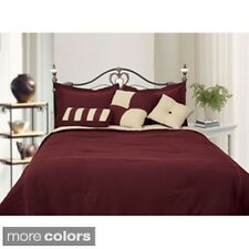 Microfiber Reversible 8-piece Bed in a Bag with Sheet Set