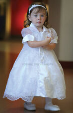 OUR LADY OF GUADALUPE JUAN DIEGO IMAGE WHITE DRESS & CAPE BABY LITTLE GIRLS GOWN