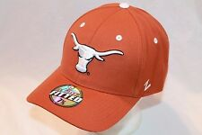 "Texas Longhorns Hat Cap ""The DHS Fitted Orange"" by Zephyr NCAA Hats"