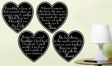 Heart Saying Wall Art Sticker Friendship Decoration Quotes East of India Style D