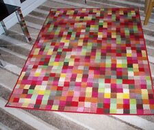 Funky Multi Coloured Squares Rug in 2 Sizes