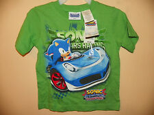 SONIC & ALL STARS RACING TRANSFORMED-BOYS 3 TODDLER-LICENSED SHORT SLEEVE-NWT