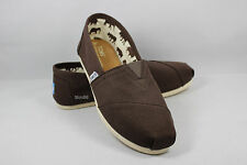 New AUTHENTIC TOMS Women's Classics CHOCOLATE Canvas Shoes with Original Box