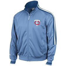 Minnesota Twins Majestic Cooperstown Light Blue Therma Base Track Jacket