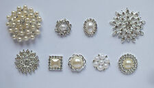 Vintage Rhinestone & Pearl Diamante Cluster Gem Embellishment - Wedding Invites