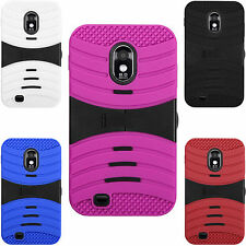 For Samsung EPIC 4G TOUCH D710 HYBRID Hard Gel Rubber KICKSTAND Case Phone Cover