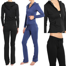 MOGAN BASIC TRACK SUIT Sweat Hoodie Jacket & Long Flare Pants Set SPORTS GYM