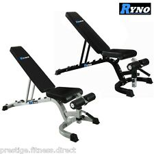 Ryno™ Adjustable Dumbbell Weight Bench Flat Incline Military Decline Press