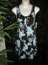 NWT $40 New Directions ND Intimates Ladies Chemise Nightgown Sleepwear: Black