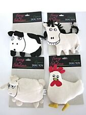 ORGANIC Dog Toys Farm Animals Horse Cow Lamb Chicken NEW Vegan Squeak Toys Pups