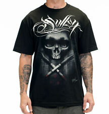 "Authentic Sullen ""Tyrrell Badge"" Skull Mens Tshirt Tattoo Design Art Tee NWT!"