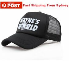 New Quality WAYNES WORLD Embroidery Black Mesh Trucker Cap Hat 90's Party