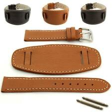 Mens Genuine Leather Watch Strap Band MONTE, Wrist Pad, 18mm 20mm 22mm 24mm - MM