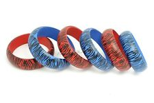 FREE wholesale lots Detailed style zebra-stripe Exquisite natural wood bracelets