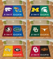 """Choose Your NCAA College """"House Divided"""" Teams 34 x 45"""" Area Rug Floor Mat"""