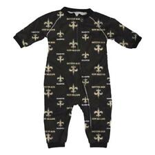 New Orleans Saints NFL Toddler Raglan Zip Up Sleeper