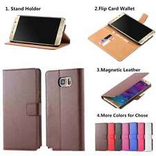 Real Genuine Leather Flip Wallet Case Cover For Samsung Galaxy Note 2 II N7100